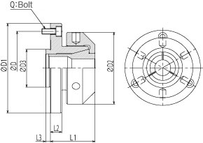 Collet adaptor CA series
